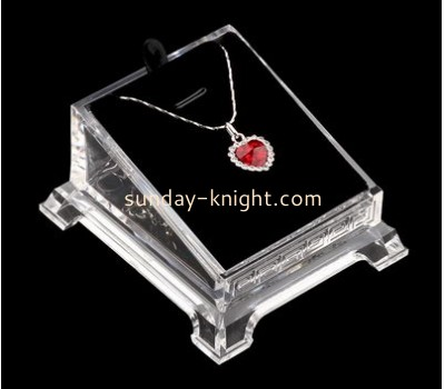 Customized acrylic retail display cases jewelry display cases necklace display stand JDK-183