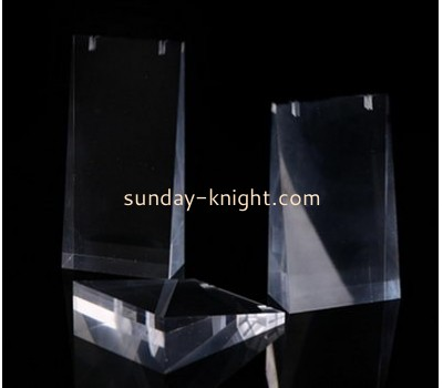 Custom small perspex display stands clear plastic stands display plastic necklace holder JDK-210