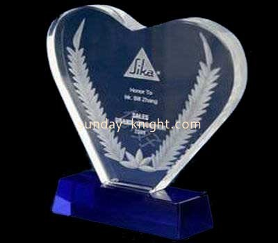 Heart shape acrylic plaques and awards ATK-018