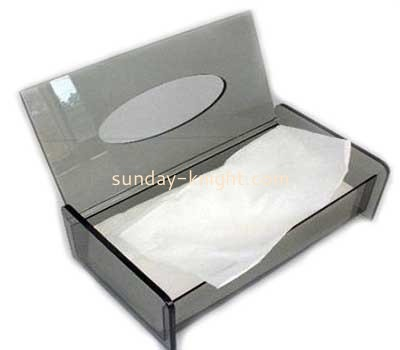 Wholesale clear acrylic box facial tissue box design small plastic box with lid DBK-087