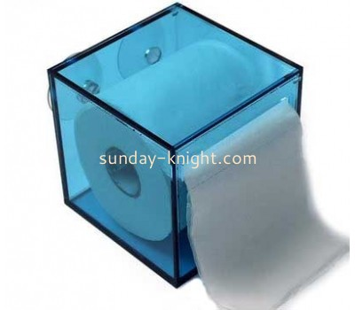 Wholesale wall mounted tissue box holder mini plastic box plexiglass acrylic rectangle box DBS-071