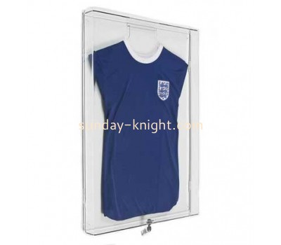 Wall mounted plexiglass acrylic cheap jersey display cases DBK-040