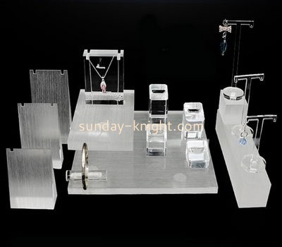 Shop display stands suppliers customized acrylic retail jewellery display stands JDK-404