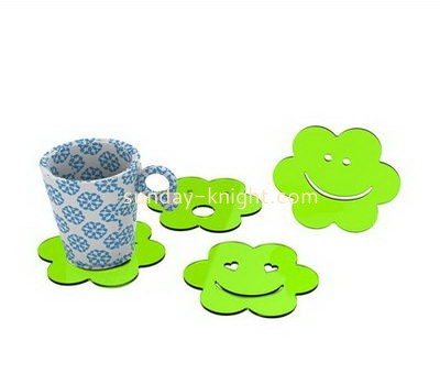 Acrylic display supplier custom acrylic cute coasters HCK-186