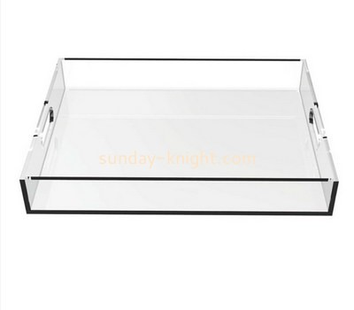 Bespoke clear acrylic tray with handles STK-068