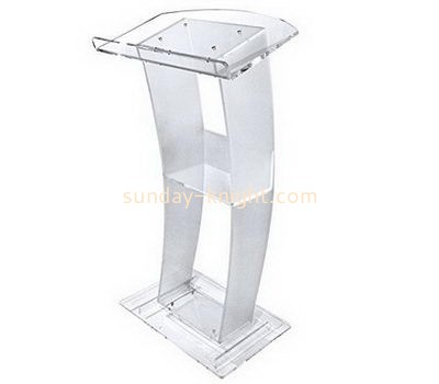 Bespoke clear acrylic lecture podium AP-189