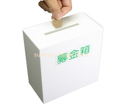 Customize acrylic coin donation box DBK-750