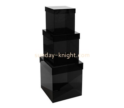 Customize black acrylic box with lid DBK-828