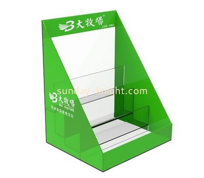 Customize acrylic poster stand with brochure holder BHK-631