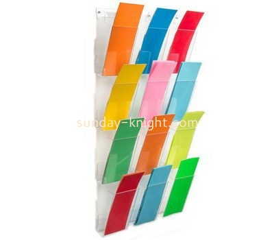 Customize acrylic wall hanging brochure holder BHK-636
