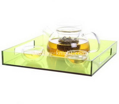Customize large acrylic serving tray with handles FSK-180