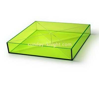 Customize square clear acrylic tray FSK-186
