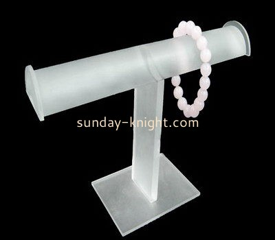Customize acrylic t bar bracelet holder JDK-489