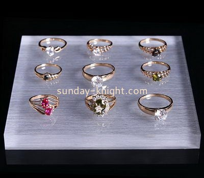 Customize lucite jewelry ring display trays JDK-518