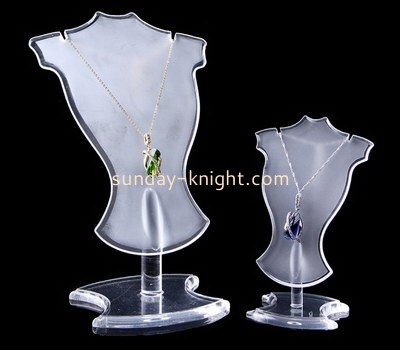 Customize acrylic necklace bust display stand JDK-536