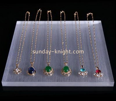 Customize acrylic long necklace jewelry holder JDK-557