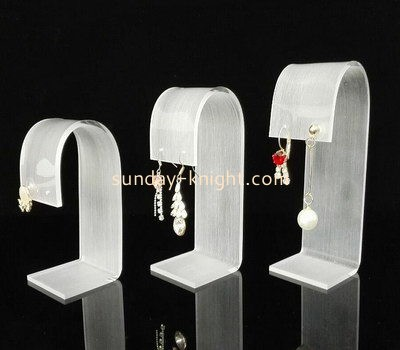 Customize lucite stud earring display stand JDK-612