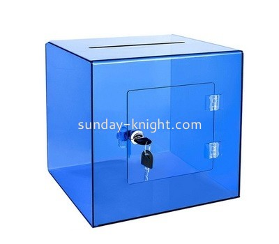 Lucite donation box with lock DBK-898