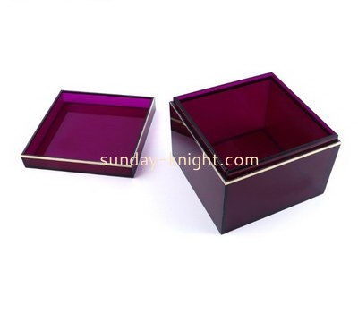 Acrylic cube gift box with lid DBK-959