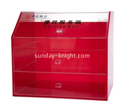 Lucite 3 drawer box DBK-967