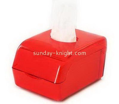 Red small acrylic tissue box DBK-1008