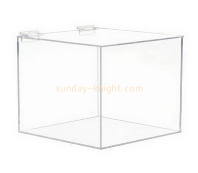 Square clear acrylic storage box with lid DBK-1015