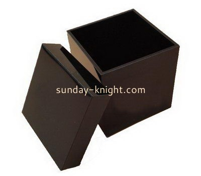 Large brown acrylic storage box with lid DBK-1016
