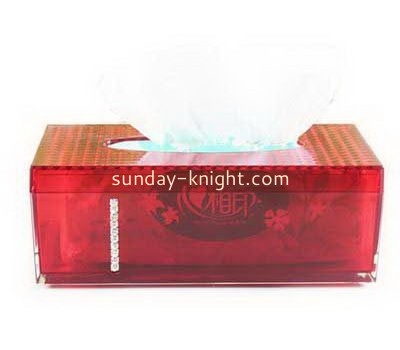 Red acrylic tissue box DBK-1021