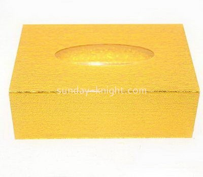Rectangular gold acrylic tissue paper box DBK-1028