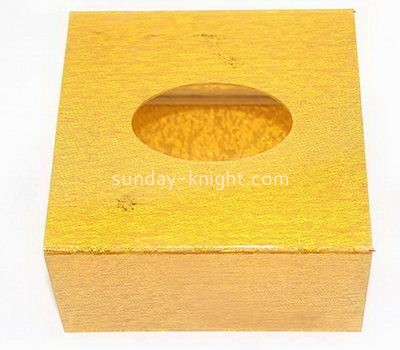 Hotel gold acrylic tissue paper box DBK-1038