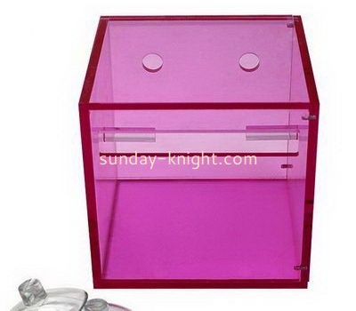 Pink square acrylic tissue paper box DBK-1042