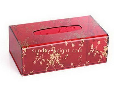 Red acrylic tissue paper box DBK-1044