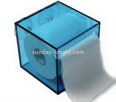 Blue square acrylic hanging tissue paper box DBK-1046