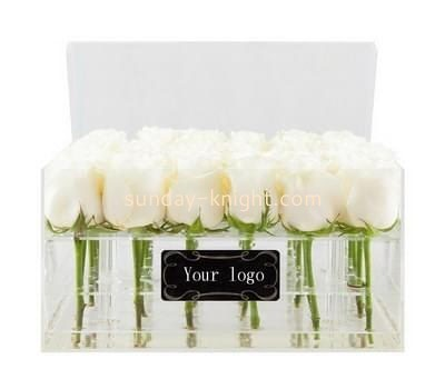 Custom clear acrylic flower box DBK-1052
