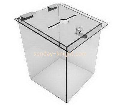 Custom clear acrylic voting box DBK-1058
