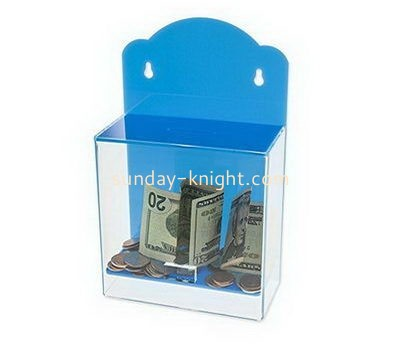 Customize wall mounted acrylic charity box DBK-1066