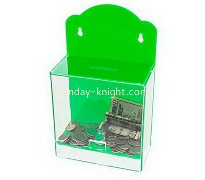 Customize wall hanging acrylic donation box DBK-1068