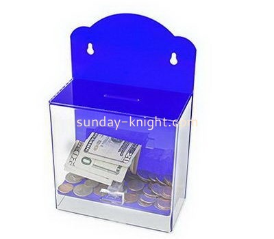 Customize wall mounted acrylic donation box DBK-1071