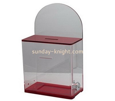 Customize acrylic election box DBK-1084