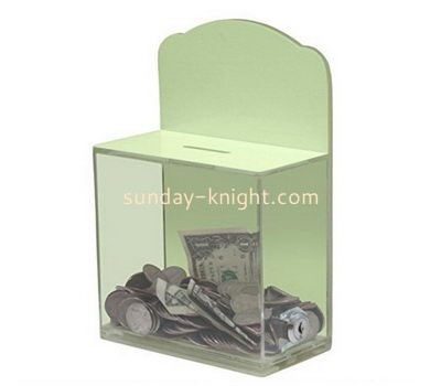 Customize acrylic money donation box DBK-1080