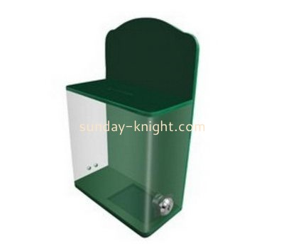 Customize small acrylic donation box DBK-1091