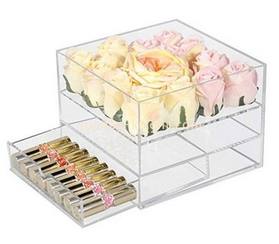 Customize acrylic rose box with drawer DBK-1124