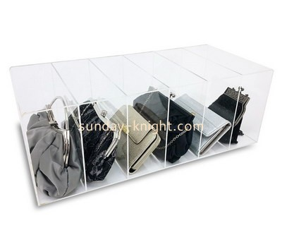 Customize clear acrylic bag display case DBK-1132