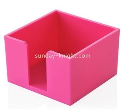 Customize pink acrylic notepad holder DBK-1143