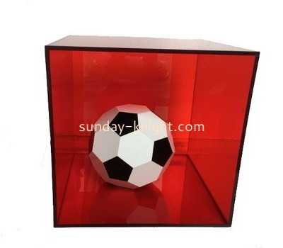 Customize red acrylic foot ball display case DBK-1140