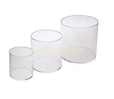 Custom round acrylic storage box DBK-1190