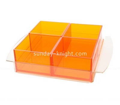 Custom compartment acrylic box DBK-1194