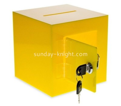 Custom yellow acrylic voting box DBK-1198