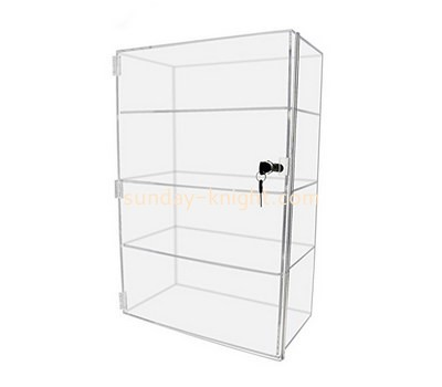 Custom clear acrylic lockable cabinet DBK-1206