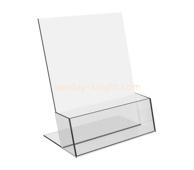 Custom table top clear acrylic brochure holder BHK-679